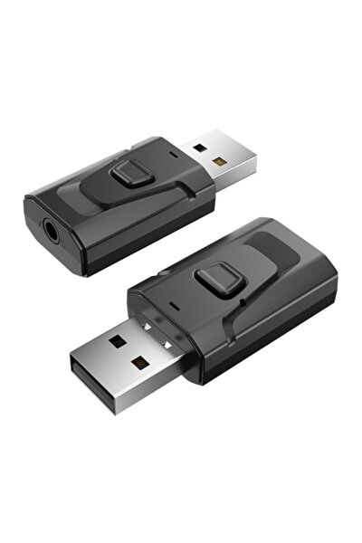 T7 Bluetooth Usb 2 In 1 Müzik Alıcısı 3.5mm Aux Adaptör Araç Kiti