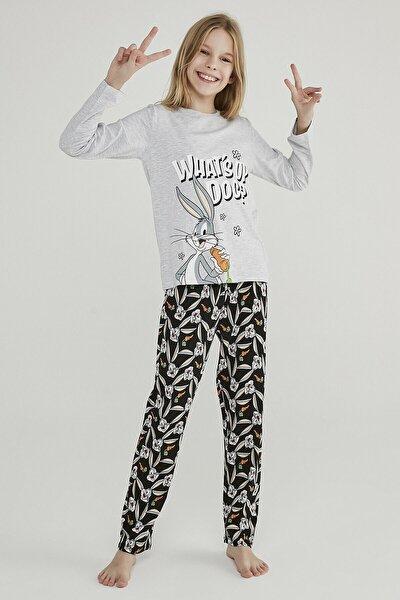 Kız Çocuk Çok Renkli Teen Whats Up 2li Pijama Takımı