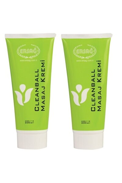 2 X 200ml Cleanball Masaj Kremi