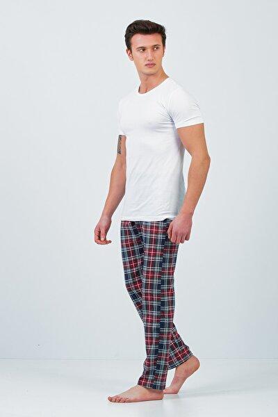 Ekose Desen Çift Pijama Kombini Unisex