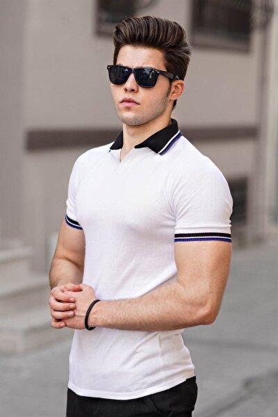 Erkek Polo Yaka Beyaz T-shirt 9249