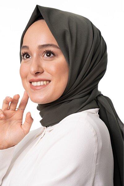 Kadın Haki Trend Medine Ipeği Şal