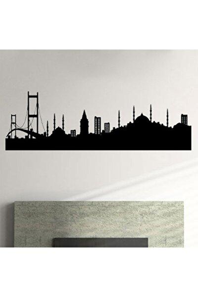 Istanbul Siluetli Metal Led Işıklı Duvar Panosu