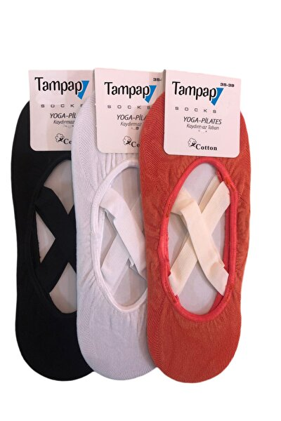 Tampap 3'lü Paket Kaydırmaz Bayan Dans Pilates Ve Yoga Çorabı