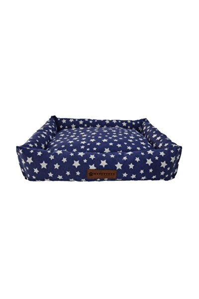 Stars Kedi Köpek Yatağı 50x60x14 Cm Lacivert