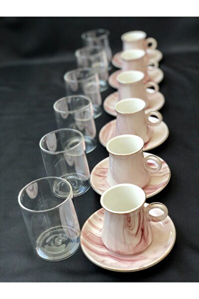 Trend Kahve Yanı Bardağı Borosilikat Bardak 6'lı