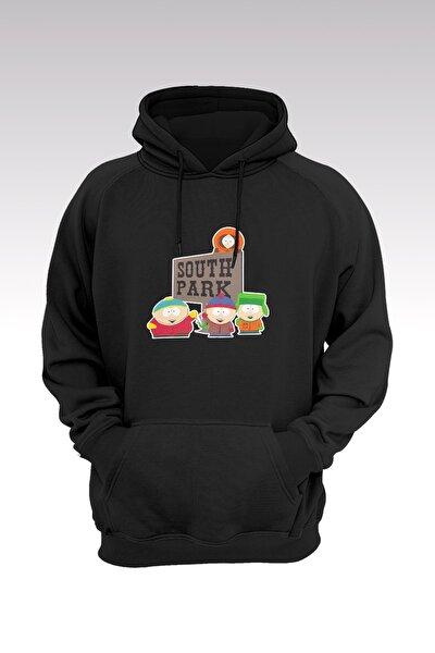 South Park 154 Siyah Kapşonlu Sweatshirt - Hoodie