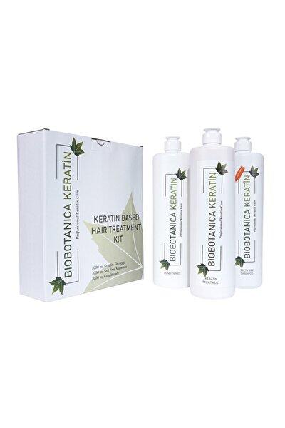 Brezilya Fönü Keratini 3'lü Set - Tuzsuz Şampuan/keratin/saç Kremi 3 X 1000 ml