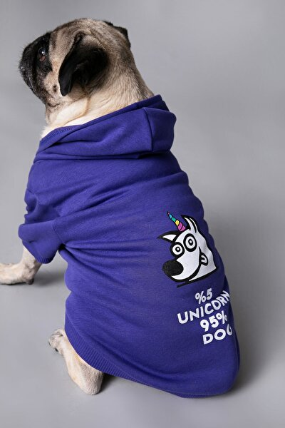 Köpek Mor Sweatshirt 1KAL68326UK