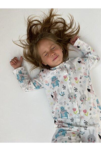 %100 Pamuk Pazen Çocuk Pijama Takımı