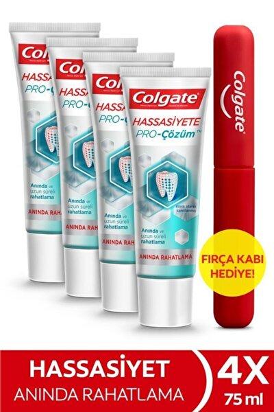 Hassasiyete Pro Çözüm Anında Rahatlama Diş Macunu 75 ml x 4 Adet + Fırça Kabı Hediye