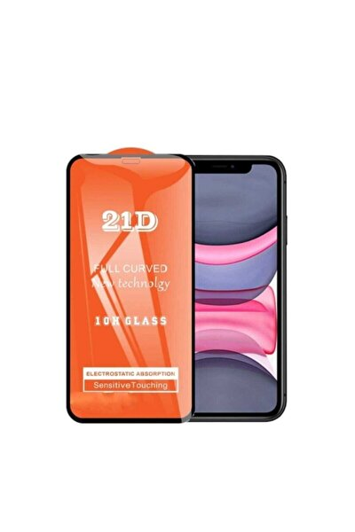 Iphone 11 21d 10h Kavisli Tam Kaplayan Temperli Kırılmaz Cam