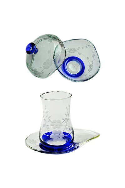 13 Parça Doğa (Mavi) Çay Seti Takımı
