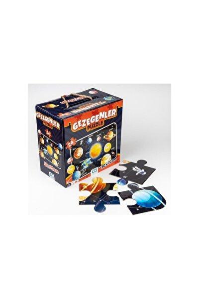24 Parça Gezegenler Maxi Boy Eğitici Puzzle 50x70cm