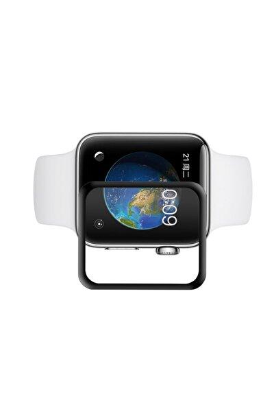 Apple Watch Series 6 44mm Temperli Curved Tam Kaplayan Darbe Emici Ekran Koruyucu Kırılmaz Cam