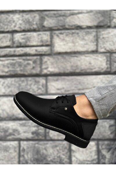 Erkek Dikişli Siyah Klasik Casual Ayakkabı