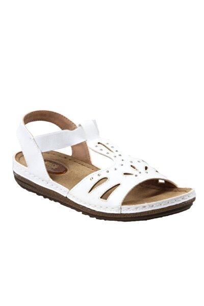 140711.51 Ortapedik Beyaz Bayan Sandalet