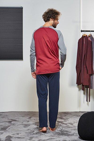 Erkek Düğmeli Pijama Takımı 21314