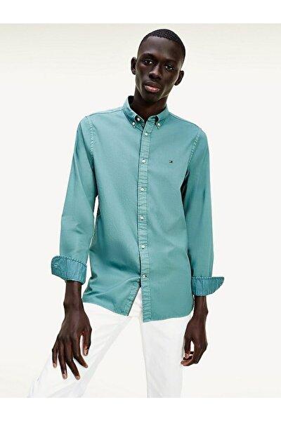 Erkek Th Slim Yıkamalı Twill Gömlek