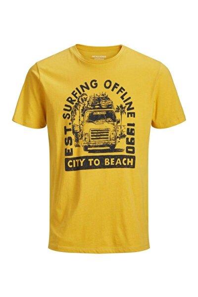 Jack&jones Sunbaked Sarı Erkek Tişört 12153600