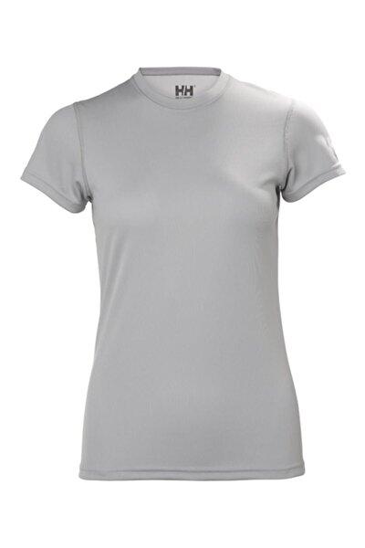 W Techt Kadın T-shirt Açık Gri