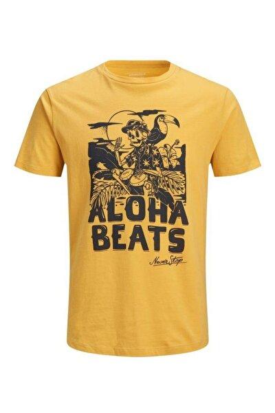 Jack&jones Joroctobooze Sarı Erkek Tişört 12153595
