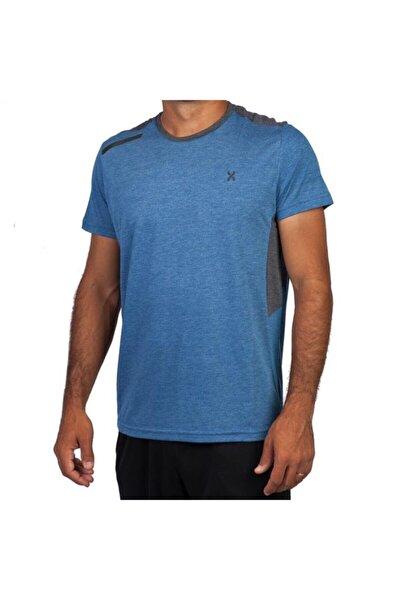 118-2150 Saks Mavisi Erkek Spor Tişört