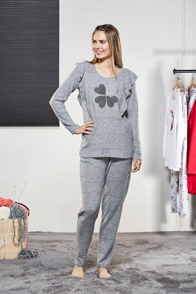 Kadın Yuvarlak Yaka Pijama Takımı 21178