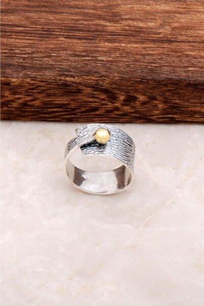 Çekiç Dövme Güç Tasarım Gümüş Yüzük 2856