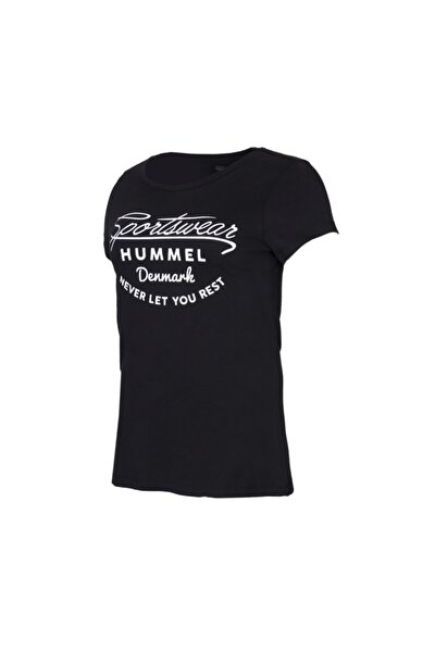 HMLKUMIN T-SHIRT S/S Siyah Kadın T-Shirt 100580983