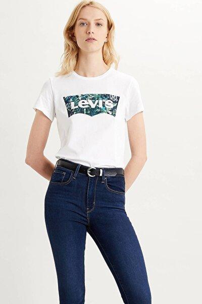 Kadın Beyaz Baskılı T-shirt 17369-1043