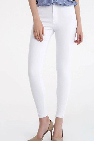 Kadın Beyaz Natalie Skinny Fit Pantolon Lf2014322