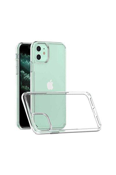 Apple Iphone 11 Şeffaf Sert Kılıf Kamera Korumalı Köşeleri Kalın Coss Kapak