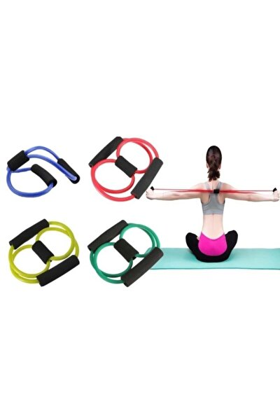 Pilates Egzersiz Bandı Aerobik Yoga Ayak Kol Direnç Lastiği