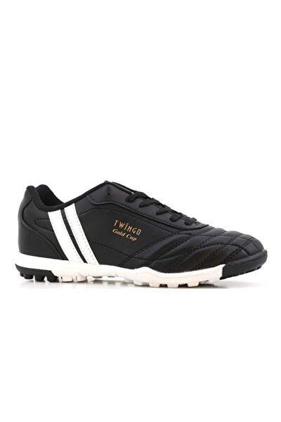 134 Erkek Siyah Halı Saha Futbol Ayakkabı