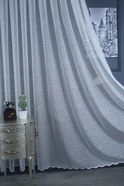 Kum Desen Jakar Tül Perde 1/2 Seyrek Pile 300x260 cm