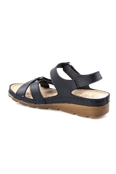 160107.50 Ortapedik Siyah Bayan Sandalet
