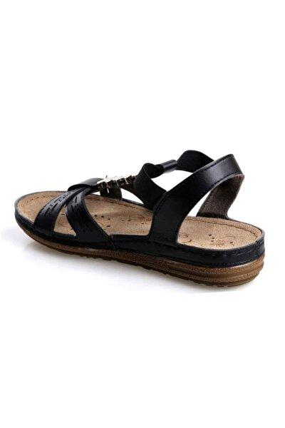 140750.50 Ortapedik Siyah Bayan Sandalet