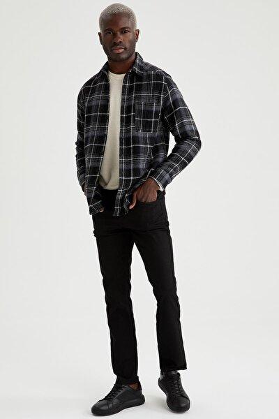 Kareli Regular Fit Uzun Kollu Gömlek Ceket