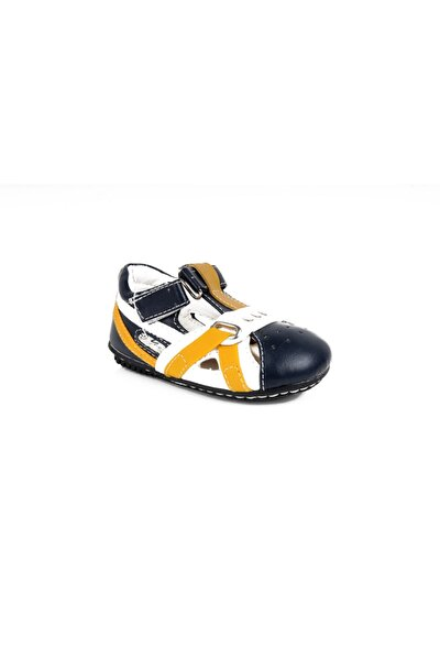 Suni Deri Bebek Ayakkabısı Cırtlı