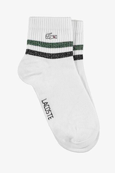 Unisex Çizgili Kısa Yeşil Çorap RA2109