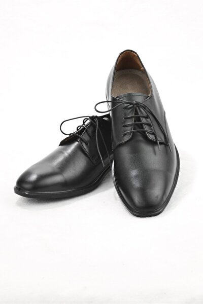 Erkek Siyah   Hakiki Deri  Klasik Ayakkabı