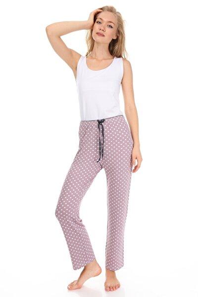 Kadın Lila Desenli Pijama Altı