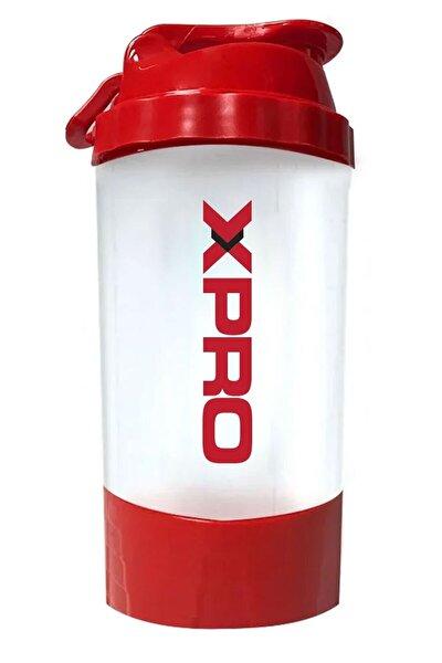 Toz Saklama Hazneli Shaker 500ml Kırmızı