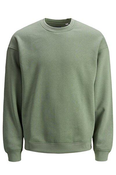 Erkek Düz Yeşil Sweatshirt - 12186363