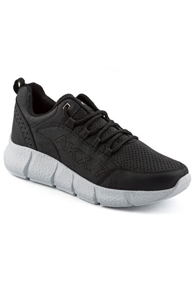 Siyah Renk Beyaz Taban Erkek Spor Ayakkabı
