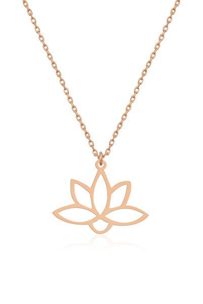 Gümüş Lotus Çiçeği Kolye Lotus Çiçeği Model Gümüş Kolye Dn430
