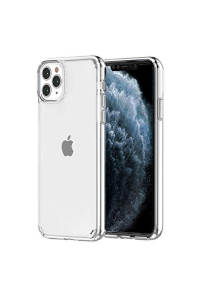 Apple Iphone 12 Pro Max Kılıf Darbe Emici Sert Şeffaf Kalın Kapak