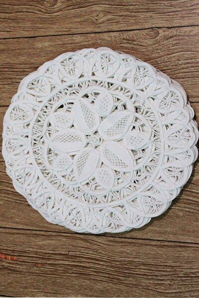 Orjinal Dantel Anglens Peçete 6 Lı Paket Beyaz Renk Pamuk Iplik