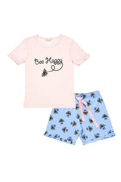 Bee Love Kız Çocuk Şort Set - Rose Pınk